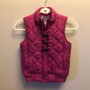 Girls Justice quilted puffer vest toggle size 10
